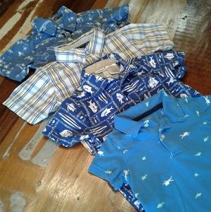 Bundle of Collared Short Sleeve Shirts